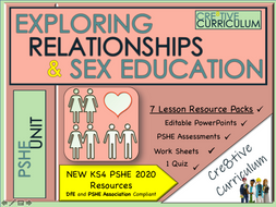 KS4 Relationship and Sex Education RSE + PSHE