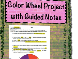 Color Wheel Project With Guided Notes By Myeducationalhotspot