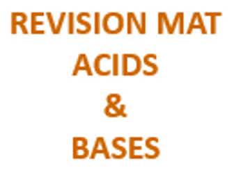 Revision Mat - Acids and Bases (Alkalis)