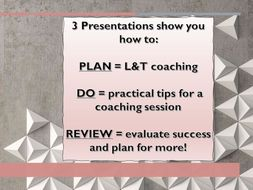 Learning & Teaching  - How to coach and develop teachers T&L :-)