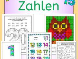 German Numbers Zahlen - activities, puzzles, bingo, flashcards