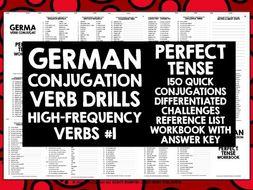 GERMAN CONJUGATION PRACTICE PERFECT TENSE #1