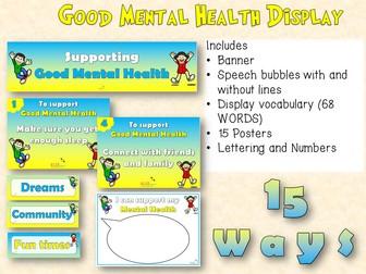 Good Mental Health Display pack