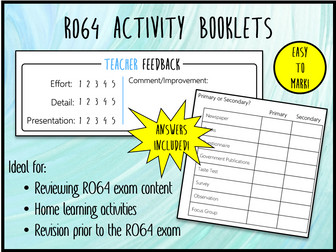 LO1 R064 Activity Booklet - Ideal Homework! (Cambridge National in Enterprise & Marketing)