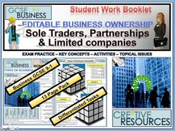Sole Traders, Partnerships & Limited Companies Revision.
