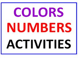 Colors and Numbers Word Search Puzzle PLUS Coloring with Numbers