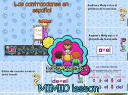 Las contracciones en español MIMIO