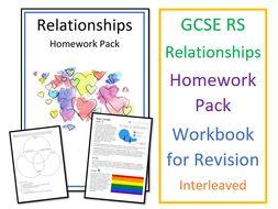 GCSE RS Relationships Homework Pack / Workbook for Revision