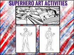Art Worksheets - Superhero Activities