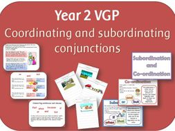 Subordination and co-ordination powerpoint, worksheets and posters: SPaG Year 2 Sentence