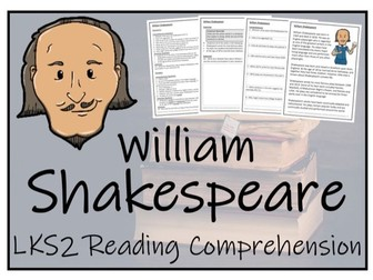 LKS2 Literacy - William Shakespeare Reading Comprehension Activity