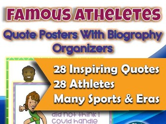 Athlete Quotes With Biography Graphic Organizer