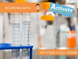 Recording Data (KS3 Activate)