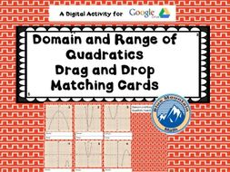 Domain and Range of Quadratics Digital Activity