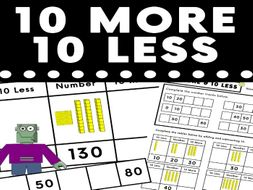 10 More 10 Less Activity