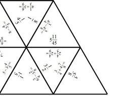 Adding & Subtracting Mixed Numbers  - Tarsia Jigsaw