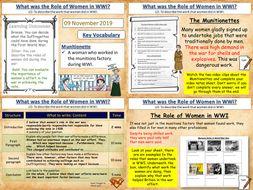 Women's Role in WWI