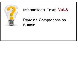 Informational Texts Vol 3 - Reading Comprehension Worksheets - Bundle (SAVE 70%)