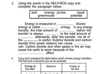 Physics Revision Sheets