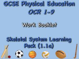 Skeletal System GCSE OCR PE (1.1a) Work booklet