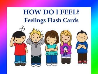 Feelings Flashcards - How Do I Feel?