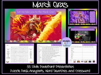 Mardi Gras Presentation and Puzzle Pack