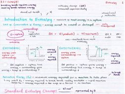 OCR A Level Chemistry Enthalpy Revision Poster   Teaching ...