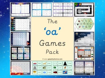 The 'oa' Phonics Games Pack (Phase 3)