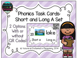 Phonics Task Cards: Short and Long A