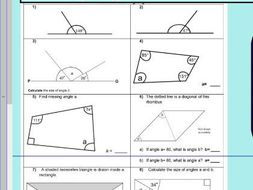 Properties of rectangles or quadrilaterals - missing ...