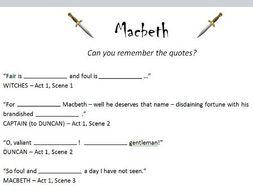 Macbeth - key quotes