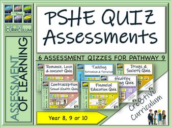 PSHE  RSE Assessment Quizzes