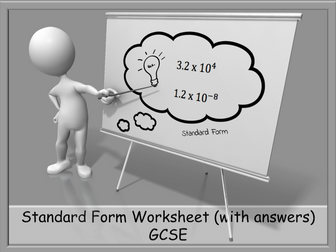 Standard Form Worksheet (with answers) GCSE