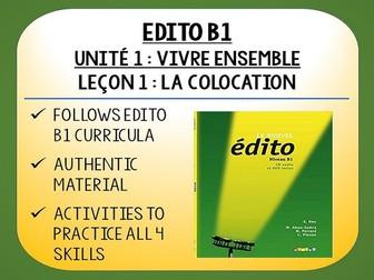 EDITO B1 - Unité 1 - Vivre Ensemble - L1