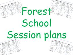 Forest school lesson/ session plans