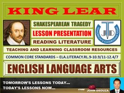 KING LEAR - SHAKESPEAREAN TRAGEDY - LESSON PRESENTATION