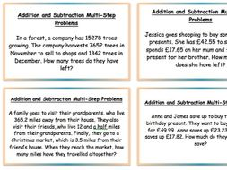 Year 5 Year 6 two lessons Multi-Step Addition Subtraction Problems Bar Models Word Problems Mastery
