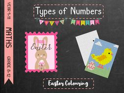 Types of Numbers - Easter Colouring