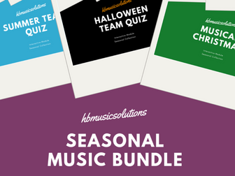 Seasonal Music Interactive Resources Bundle