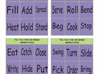 Imperatives Tic-Tac-Toe or Bingo