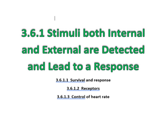 3.6.1 Receptors, Control of Heart rate and Survival & Response