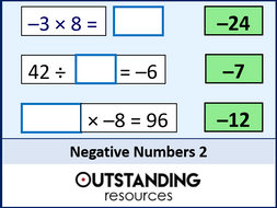Number: Negative Numbers 2  - Four Operations & Problems (+ LOTS of resources)
