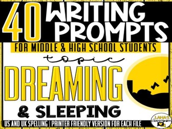 Daily Writing Prompts | Dreaming | Middle and High School
