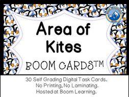 Area of Kites Boom Cards--Digital Task Cards