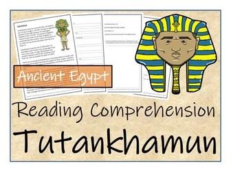 UKS2 History - Tutankhamun Reading Comprehension Activity