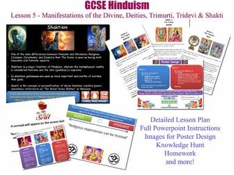GCSE Hinduism - Lesson 5/20 [Manifestations of the divine, deities, trimurti, tridevi, shakti]