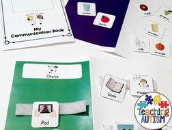 Communication Book with Symbols