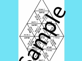 Dividing Decimals – Math puzzle