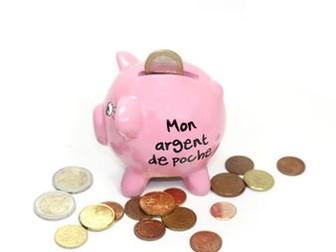 L'argent de poche - Pocket money. Speaking, reading and written tasks