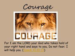 Courage - Collective Worship